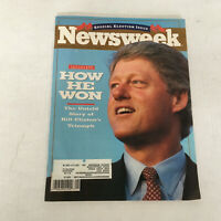 1992 special election issue newsweek magazine president  Bill Clinton on cover