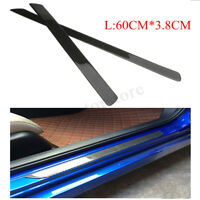 2PC 60cm Carbon Fiber Car Scuff Plate Door Sill Cover Panel Step Protector Guard