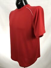 Ivy Crew Sport Mens Workout Shirt Size L Red Training Gym Athletic Polyester S/S