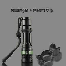 T6 LED 8000LM Police ZOOM Cycling Bike Lamp 18650/AAA Flashlight 360° Mount Clip