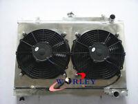 52MM Aluminum Radiator for Nissan Skyline R33 R34 GTR GTST RB25DET+ Shroud +Fans