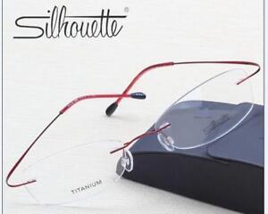 7474 Silhouette B Titanium Elasticit Rimless Glasses Frame Eyeglasses Big Frame