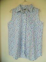 WOMEN'S CABIN CREEK FLORAL WRINKLE FREE SLEEVELESS TOP SHIRT SIZE  6P