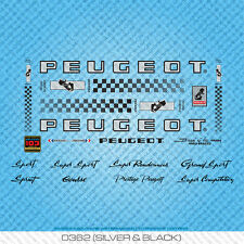 Peugeot PX//PY10 bicyclette decals-transfers-autocollants-rouge /& blanc-set 357