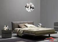 Originale Set Luci Camera da letto Lampadario moderno Bianco nero +2 lampade led