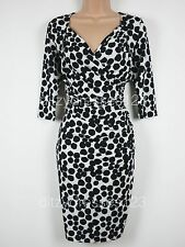 BNWT SAVOIR Confident Curves Spotted Secret Support Wrap Dress Size 18 Stretch