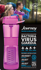 Journey™ Water Bottle & Filter Orchid -REMOVES Bacteria, Virus, Cryptosporidium