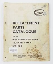 TRIUMPH 1974 BONNEVILLE 750-TI40V/TIGER 750-TR7RV REPLACEMENT PARTS CATALOGUE