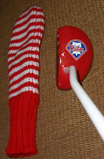 REDUCED-PHILADELPHIA PHILLIES NEW GOLF CLUB PUTTER & COVER-NICE GIFT-FAST SHIP