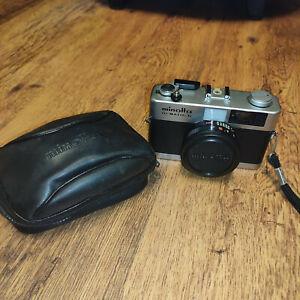 Minolta Hi-Matic G 35mm compact Camera, Rokkor 38mm,  f2.8, Lens with case