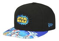 NEW ERA STAR WARS 40°ANNIVERSARIO Cappello cappellino 9FIFTY nero visiera piatta