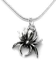 araignée femme collier pendentif chaîne collier bijoux mode couleur argent 45 cm