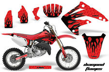 Dirt Bike Graphics Kit MX Decal Wrap For Honda CR85 CR 85 2003-2007 DFLAME K R