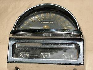 VINTAGE 1951 NASH STATESMAN AMBASSADOR SPEEDOMETER DASH CLUSTER WITH GAUGES.