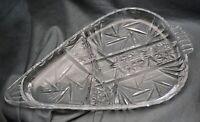 Servierschale Cabaret Bleikristall, teils geschliffen, Schleuderstern, 28 cm