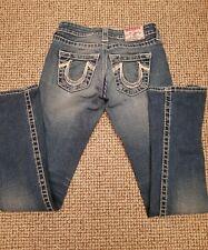Original TRUE RELIGION Jeans Jeanshose Blau Gr. 24 TOP