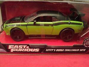 Jada Letty's  Dodge Challenger  SRT 8 1:24 Scale NIB 2021 release Fast & Furious