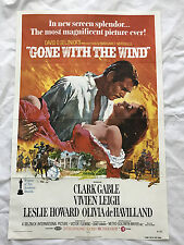 """GONE WITH THE WIND"" 1970 ORIGINAL MOVIE POSTER 1ST ISSUE 27X40 CLARK GABLE"