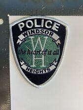 WINDSOR HEIGHTS IOWA POLICE PATCH