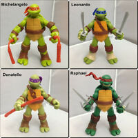 Set Of 4pcs Teenage Mutant Ninja Turtles Battle Shell Action TMNT Figures Toy QQ