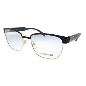 Versace VE1264 1436 Matte Black Gold Metal Men's Eyeglasses 54mm