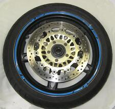 """R&g bleu 16-piece modulaire moto jante bande pour 17"""" jantes"""