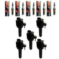 New Ignition Coils (5) + (5) Autolite Spark Plugs For 2006-12 Buick GMC Isuzu