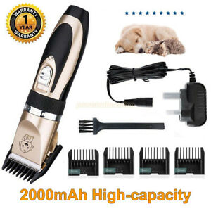 Rechargeable Cat Dog Hair Trimmer Electric Pet Dog Grooming Clipper Low Noise UK