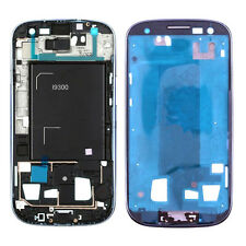 Azul Frontal Marco Bisel Chasis Pieza De Reemplazo Para Samsung Galaxy S3 Iii I9300