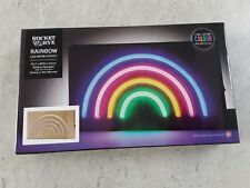RAINBOW LED NEON EFFECT LIGHT DECORATION PLAQUE SIGN BATTERY OPERATED LGBT