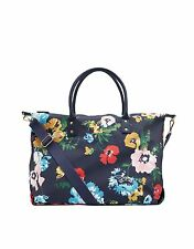 New! Joules Kembry Navy Floral Printed Canvas Overnight / Weekend Bag