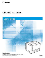 Canon laser printer LBP3310 operation instructions owner's user guide manual