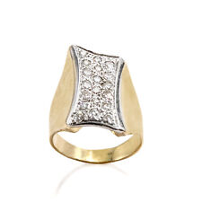 14 KT YELLOW GOLD DIAMOND COCKTAIL RING