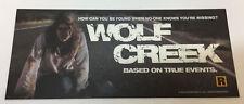 2005 horror movie plastic light box strip/card ~ WOLF CREEK ~ 5x12