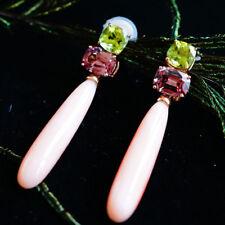 Babypink Spinell Koralle Peridot Ohrhänger ALLEGRA 750er Rosegold SW 7.369.-EURO