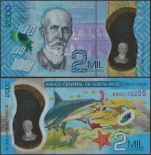Costa Rica B565 2000 Colones 2020 Polymer New Design Dated 2018 @ Ebanknoteshop