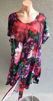 💜 TS Short Sleeve Tunic Midi Dress Multicolor Size M PLUS Buy7=FreePost L835