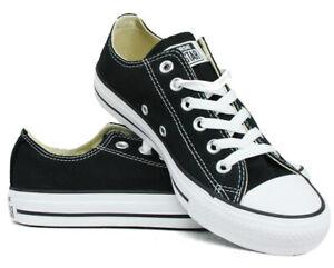 Converse All Star OX Chucks M9166 Unisex Sneaker schwarz Gr. 36 - 44 + Geschenk