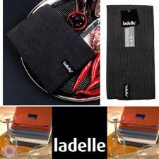 Ladelle Microfibre Glass Cloth Tea Towels | Super Absorbent | Black