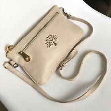 Mulberry Leather Crossbody Clutch Purse Shoulder Bag Small Beige Women Ladies UK