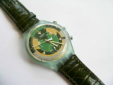 1994 Swiss Swatch Watch Mimetica Chrono Chronograh Leather Band SCG401 New