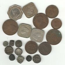collection OF 20 OLD IMPERIAL AND NATIVE STATES INDIAN COIN SOME VERY OLD