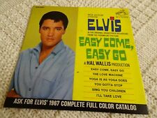 ELVIS PRESLEY RCA EP 4387  EASY COME EASY GO  WHITE LABEL PROMO