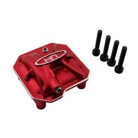 Hot Racing SCXT12C02 Axial SCX10 II SCX2 Red AR44 Aluminum Axle Diff Cover