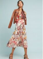 NWOT Anthropologie Akemi + Kin Alarie Ruffled Dress 00 0 2 4 6 8 10 12 Petite