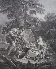 GAILLARD RENE (1719-1790) D'APRES BOUCHER FRANCOIS, LE PANIER MYSTERIEUX, 18 ème
