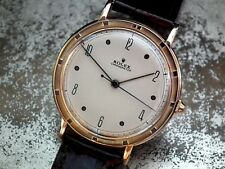 1957 18ct Rose Gold 'Jumbo' Size Rolex Precision Chronometer Gents Vintage Watch