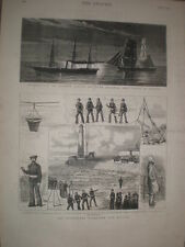The Sunderland Volunteer Life Brigade 1878 old print