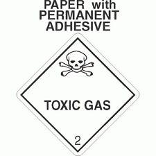 L-332 Toxic Gas Class 2.3 Paper Labels D.O.T. 4X4 (ROLL OF 500)