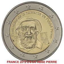 """FRANCE 2012 2 EURO COMMEMORATIVE """"ABBE PIERRE""""  SUPERBE    PREVENTE"""